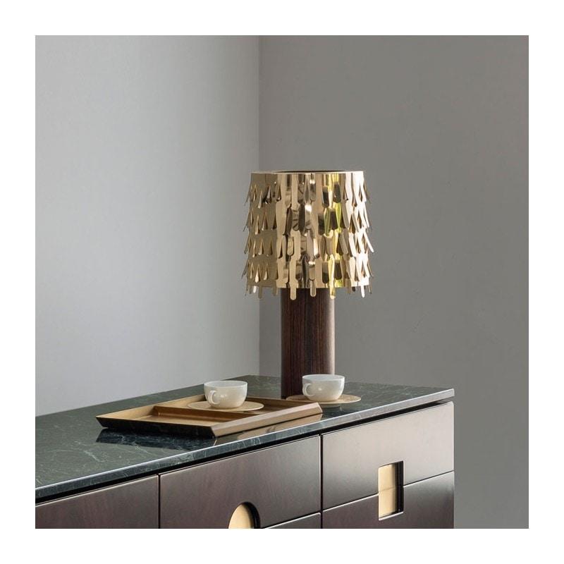 Jackfruit Table Lamp, Golden brass lamp