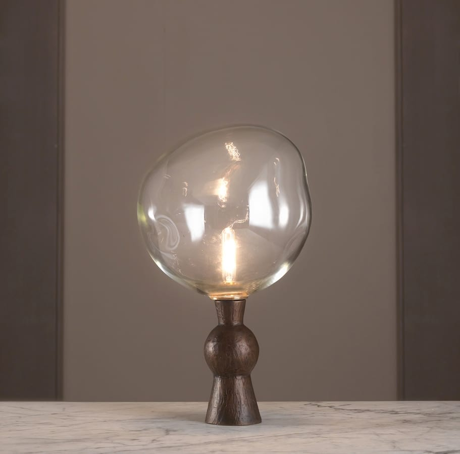 Abat Jour Cilindro table lamp in bronze casting | idfdesign