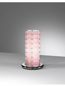Orione Rt388-020, Abat-jour lamp in pink glass
