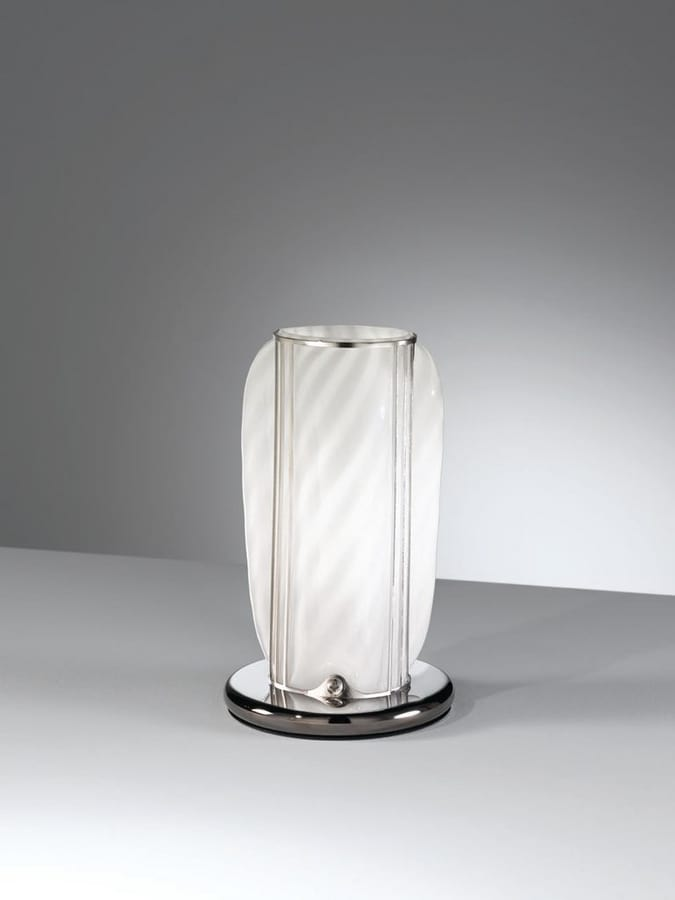 Orione Rt389-020, Handcrafted table lamp in white glass