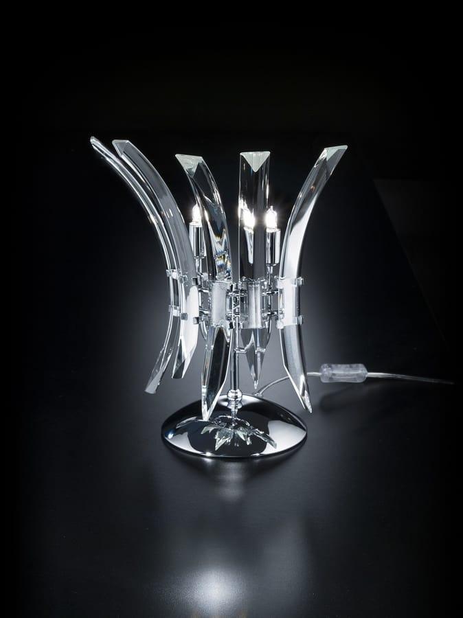 SURF L 28, Elegant crystal table lamp