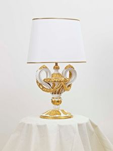 TABLE LAMP ART.LM 0006, Hand-carved table lamp