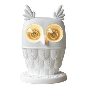 Ti.vedo CT105 1B INT, Table lamp in ceramic, owl-shaped