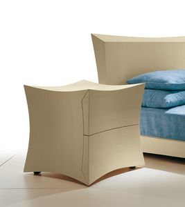 2114 Condao, Modern bedside table, equipped with 2 drawers