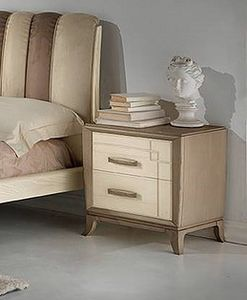 A 701/P, Bedside in ash wood bicolor, for hotels