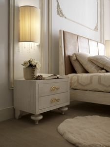 Allegra onion foot nightstand, Bedside table with onion-shaped feet