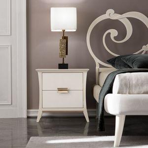 Ambra Art. 471, Elegant wooden bedside table