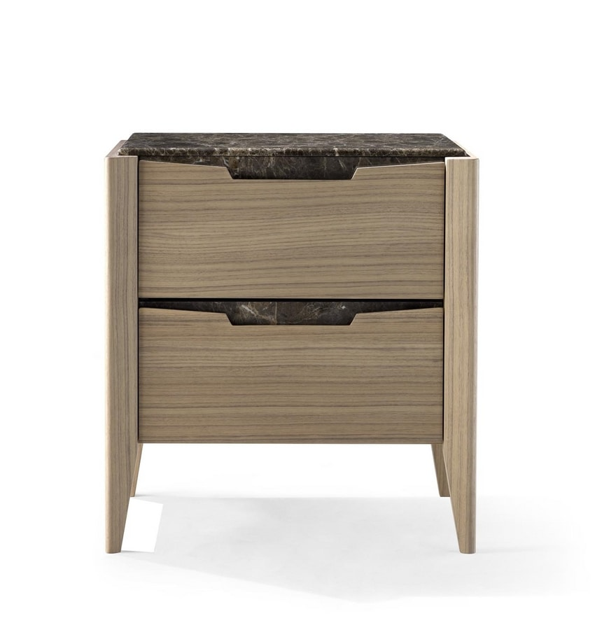 AN 733 M, Contemporary bedside table with two drawers
