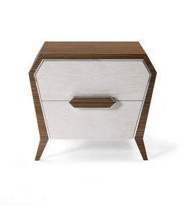 AN 741 P, Bedside table with a geometric design