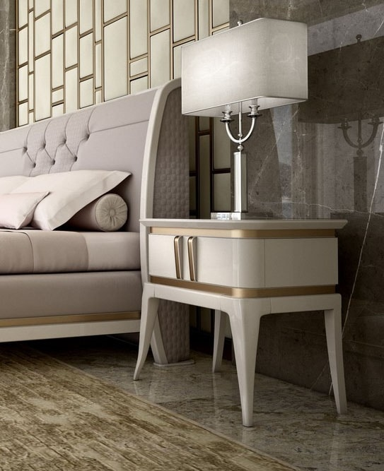 Art. 5607, Contemporary bedside table in lacquered wood