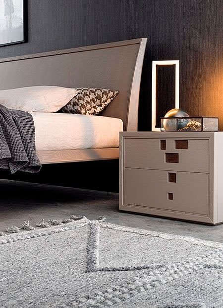Break Up, Wooden bedside table with decorative metal inserts