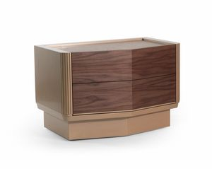 Bredy Art. 430, Nightstand in Canaletto walnut