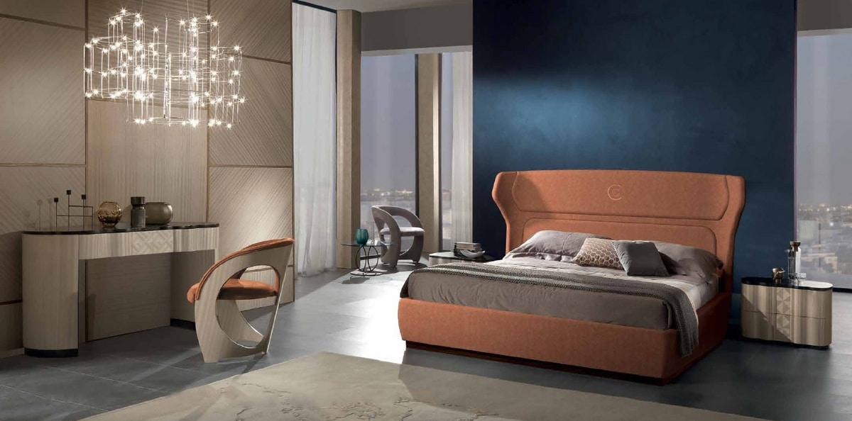 CD33 Mistral nightstand, Bedside table with rounded lines