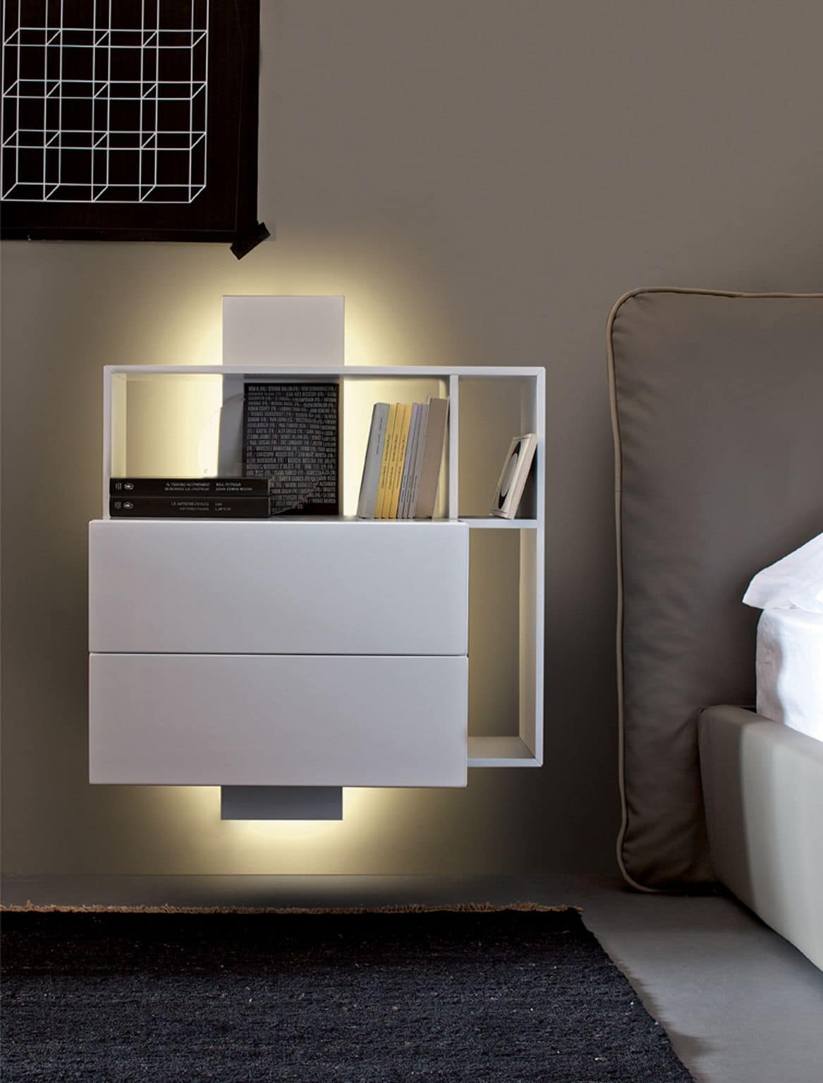 Contatto nightstand, Functional cabinet container, for the living and sleeping area