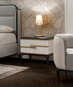 Dilan Art. D86, Bedside table in solid lacquered ash wood