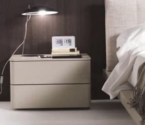 DUO night table, Bedside table with soft shapes