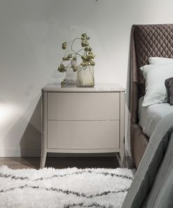 Gold Art. 6606 L, Bedside table in lacquered wood