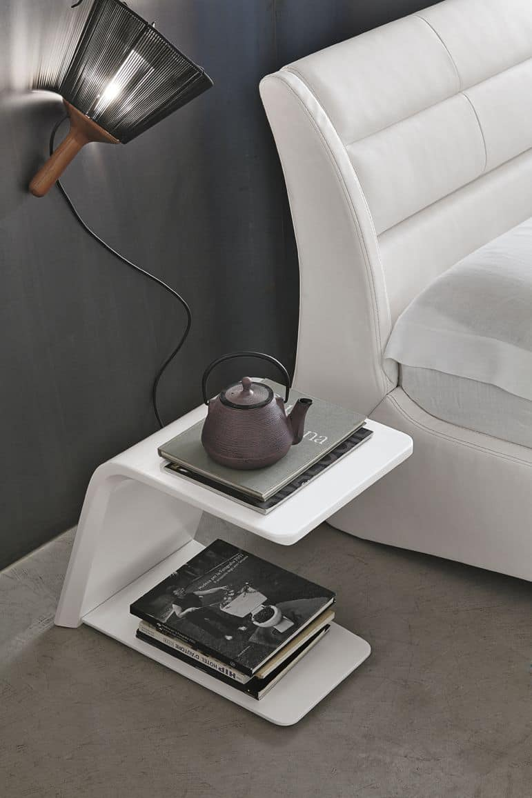 JUMP TC500, Set of white lacquered nightstands for bedrooms