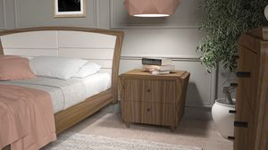 La Nuit nightstand, Elegant wooden bedside table