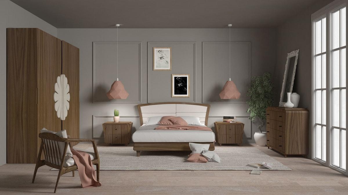 La Nuit nightstand, Elegant wooden bedside table