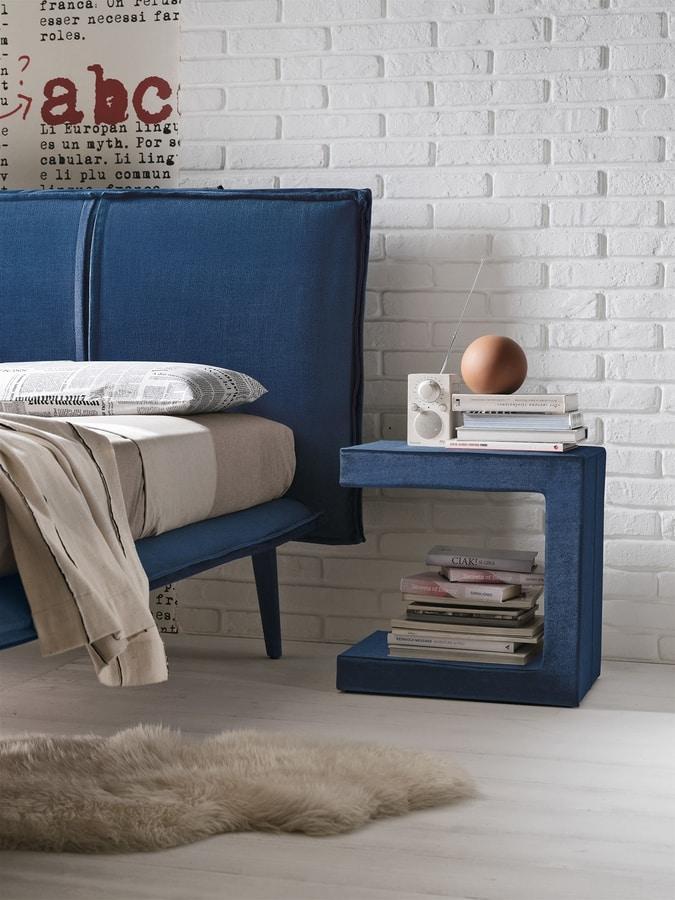 LEO PLUS TC124, Upholstered bedside table