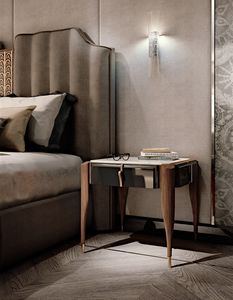 LEXINGTON AVENUE Bedside table, Luxury bedside table in Canaletto walnut