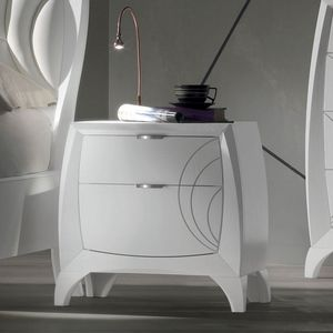 Luna LUNA5156, 2-drawer bedside table with engravings