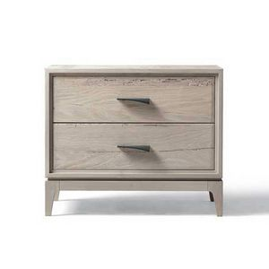 M-633, Bedside table in gray walnut finish