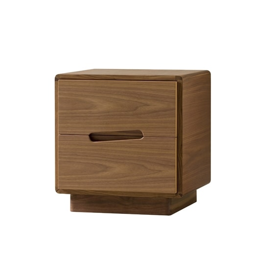 Malibù 1367/F, Wooden bedside table with carved handles