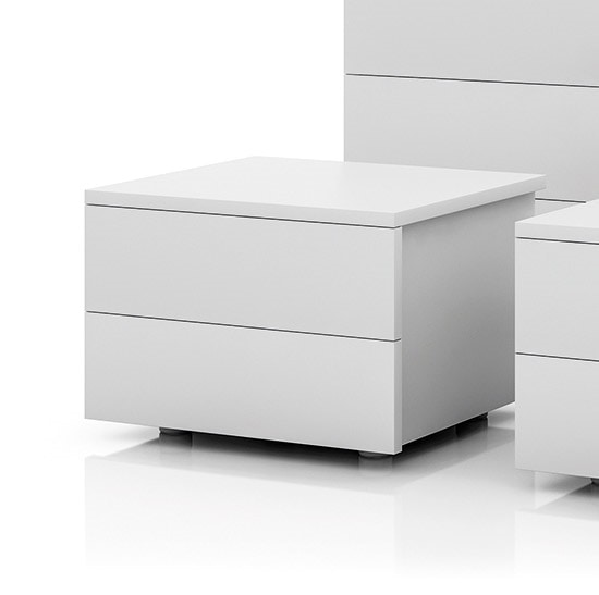 MONTECARLO night table, Bedside table made of white melamine
