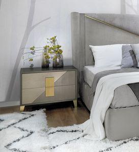 Morfeo Art. M0010, Bedside table in veneered wood