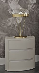 Myfair nightstand, Bedside table with an elliptical shape