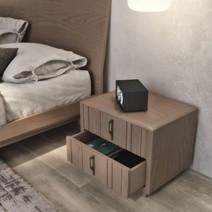 Nova NOVA1303T, Modern wooden bedside table with plinth
