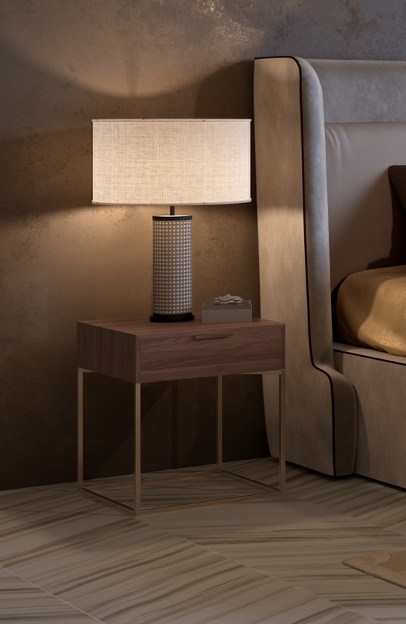 Nox nightstand, Bedside table with minimal design