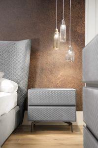 Nyx Art. N0010-G, Upholstered bedside table