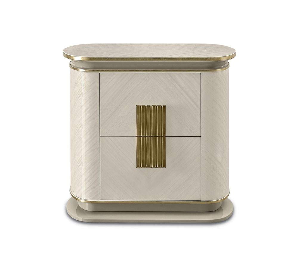 Oliver Art. OL87, Bedside table with a delicate, sophisticated design