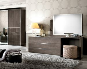 Platinum dressing table, Dressing table with minimal design