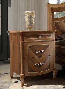 Prestige 2 Art. 4306, Bedside table with walnut veneer