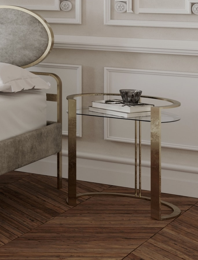 Richard, Bedside table with glass top