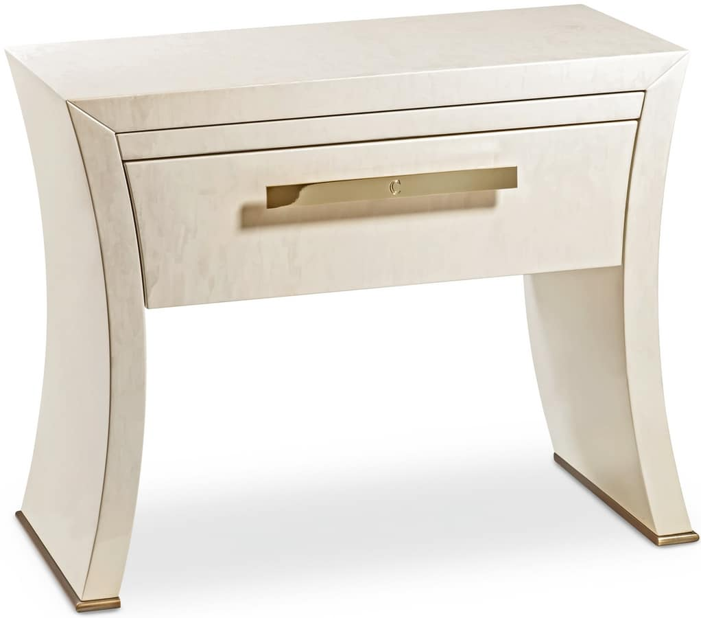 Richard new nightstand, Elegant nightstands with a classic design