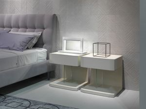 SAMAR nightstand, Bedside table with beveled front