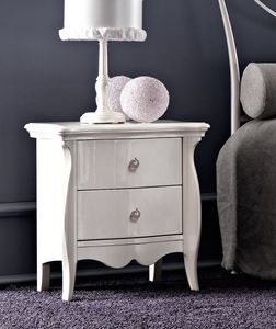Sofia Art. 459, Bedside table with curved sides and fronts