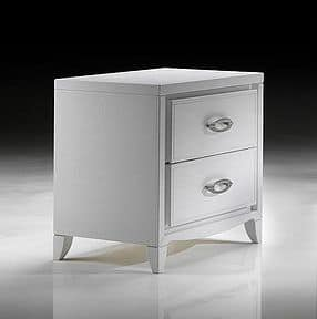 ST 701 P, Contemporary bedside table with oval handles