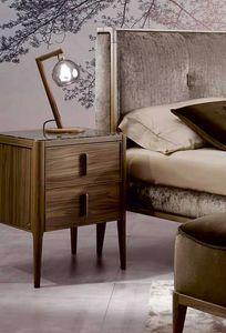 Sunrise nightstand, Nightstand with mirror top