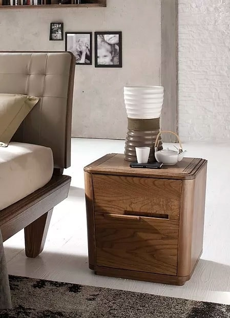 Tea Glam, Bedside table with rounded shapes
