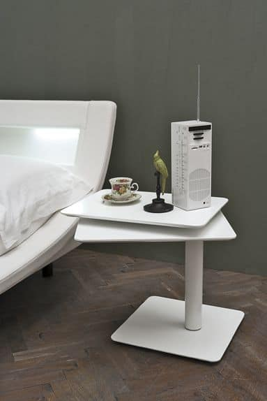 TWIST TC122, Transformable bedside table made of metal, for bedrooms
