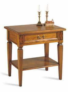 Villa Borghese nightstand 5374, Wooden bedside table, in classic style