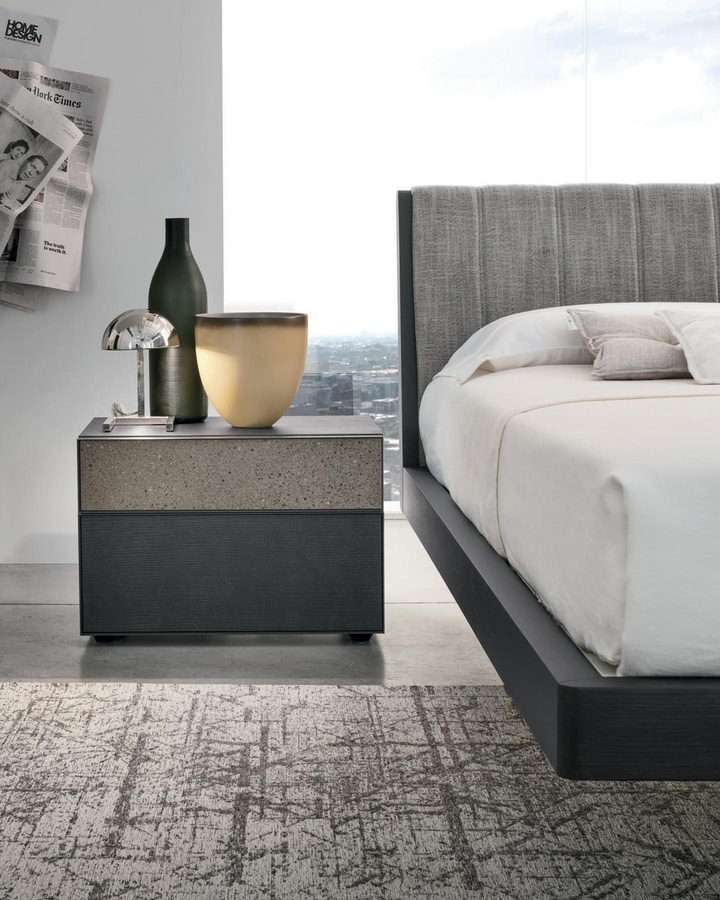 Vinci, Bedside table with a refined design