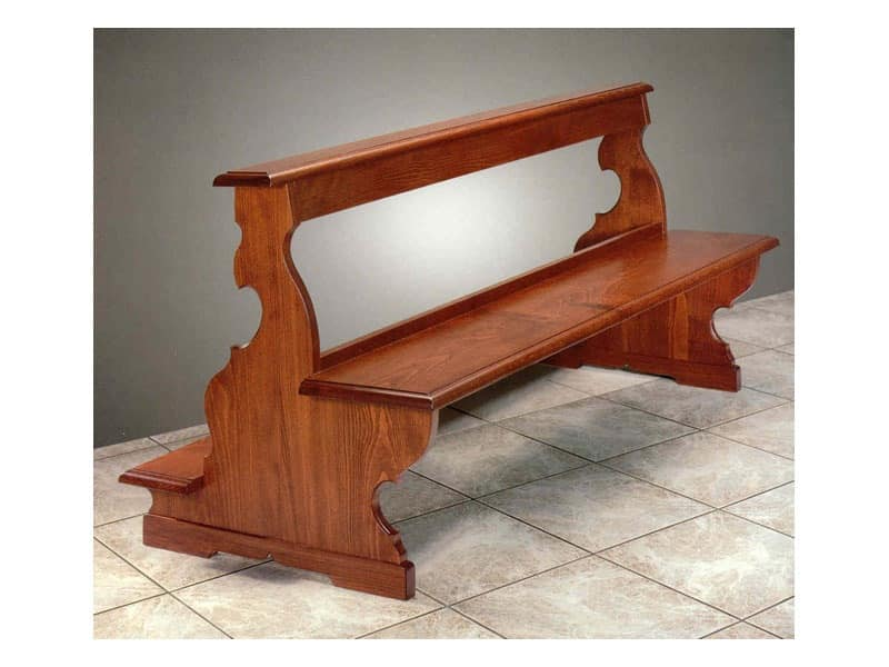 Barocco, Hardwood benches for churches and synagogues