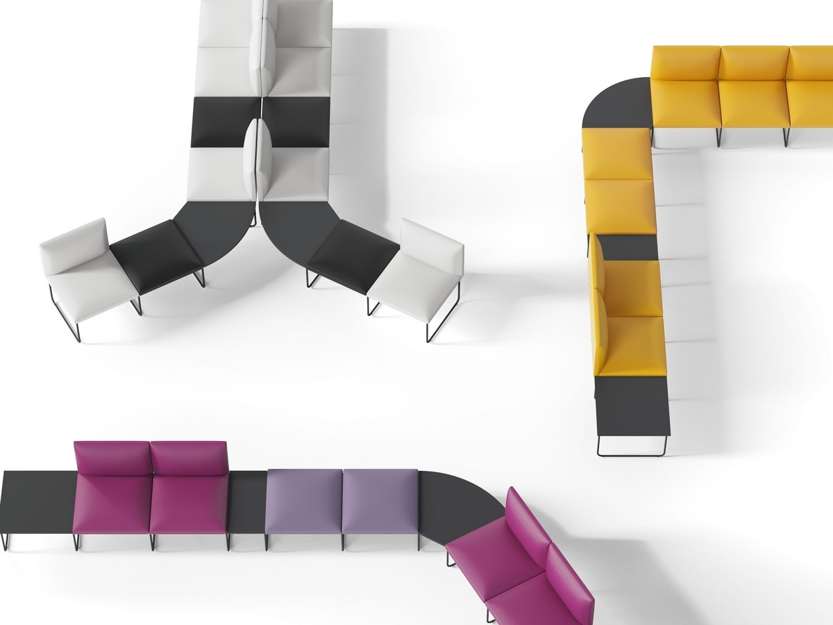 DOMINO, Modular benches for waiting rooms
